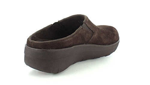 Clog Women's Loaff FitFlop Chocolate Suede qWTg66R