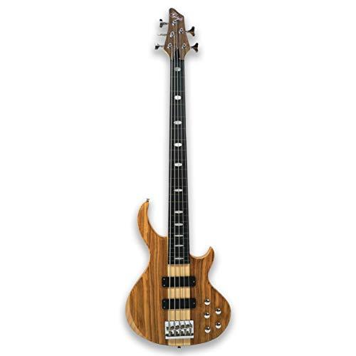 - Fretless 5 String Electric Bass Guitar Millettia Laurentii+Okoume body