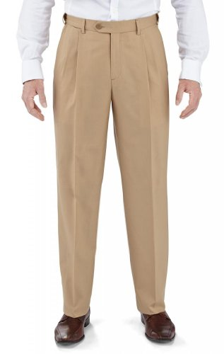 Winthrop & Church Men's Pleated Front Poly Wool Trouser SHORT RISE by Winthrop & Church