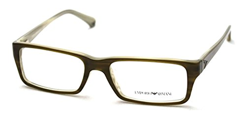 Emporio Armani EA3003F Eyeglasses-5057 Olive Green/Variegated - Glasses For Armani Men Emporio