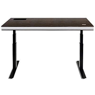 TableAir höhenverstellbarer Steh- und Schreibtisch, dark walnut