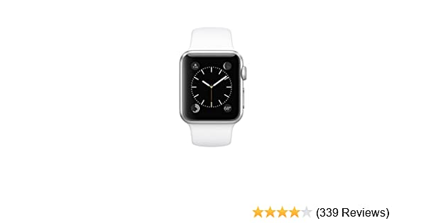 Amazon.com: Apple Watch 7000 Series 38 mm Aluminum Case Sport with White Sport Band: Cell Phones & Accessories