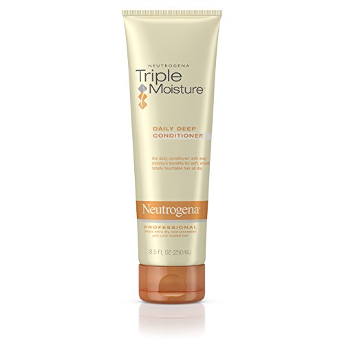 Neutrogena Triple Moisture Daily Deep Conditioner For Dry Hair Moisturizing, 8.5 Fl. Oz. (Pack of 3)