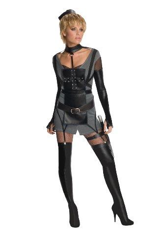Secret Wishes Womens Sucker Punch Rocket Costume, Black, Medium