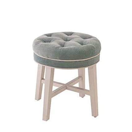 Swell Hillsdale Furniture Vanity Stool With Spa Fabric Caraccident5 Cool Chair Designs And Ideas Caraccident5Info