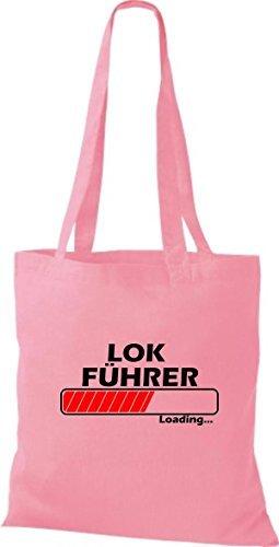 Jute Cloth Bag Machinist Loads Many Pink Colors