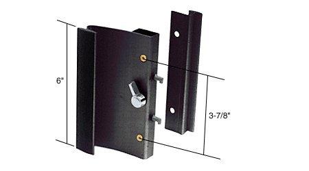 Black Hook-Style Surface Mount Sliding Glass Door Handle 3-7/8