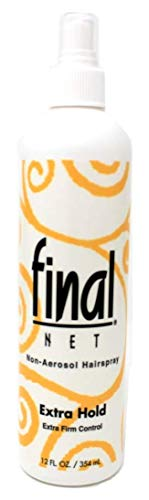 Final Net Non-Aerosol Hairspray Extra Hold Extra Firm Control, 12 Ounces Each (Value Pack of 6)