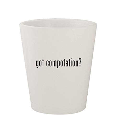 got compotation? - Ceramic White 1.5oz Shot Glass