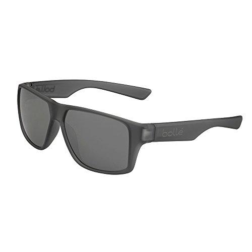 Bolle Brecken Matte Grey Crystal Polarized 12430 Sunglasses TNS Gun Lens Large