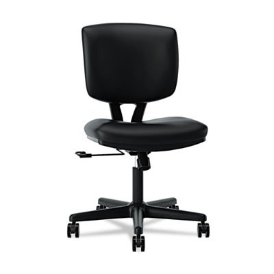 HON Volt Task Chair - Leather Computer Chair for Office Desk, Black (H5701)
