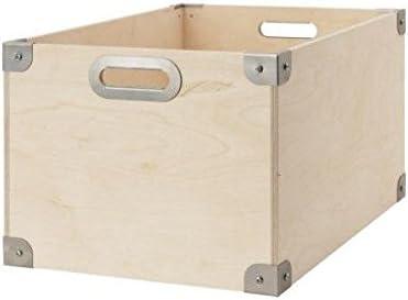 Ikea Snack caja de madera de abedul; (37 x 27 x 30 cm): Amazon.es ...