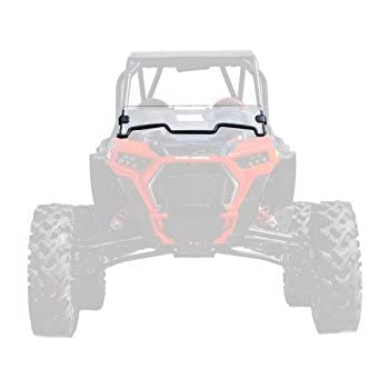SuperATV Heavy Duty Clear Standard Half Windshield for Polaris RZR Turbo S (2018+)