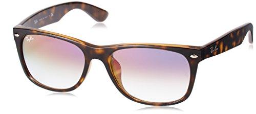 Ray-Ban RB2132F New Wayfarer Asian Fit Sunglasses, Tortoise/Violet Gradient, 58 ()