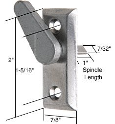 """CRL 2"""" Thumb Turn With 1-5/16"""" Screw Holes for Hollyview Doo"""