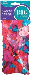 Bulk Buy: Blumenthal Lansing Favorite Findings Big Bag Of Buttons Hearts 3.5oz 5500-2007 (3-Pack)
