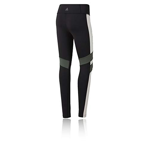 Block Mallas Mujer Negro Tight Reebok Lux Blanco Color Tqw6EBPU