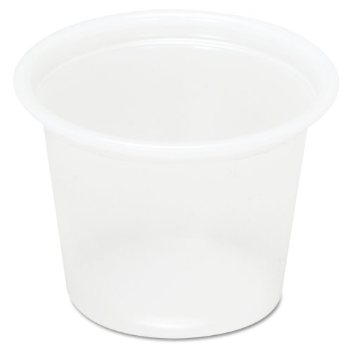 Boardwalk YS-100 1-Ounce Translucent Plastic Souffle Cup 200-Pack (Case of 25)