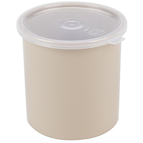 (Carlisle 0341 Beige 1.2 qt Poly-Tuf Round Crock with Lid (2 pack) )