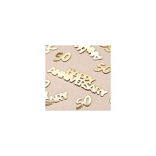 Darice Bulk Buy DIY 50th Anniversary Confetti Gold 14 Grams (6-Pack) V1630-50