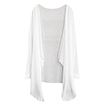 Woaills Womens Summer Long Thin Cardigan,Ladies Modal Sun Protection Tops Clothing