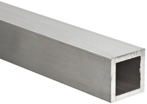 Aluminum 6063-T52 Hollow Rectangular Bar, AMS QQ-A-200/9, ASTM B221, 2.5