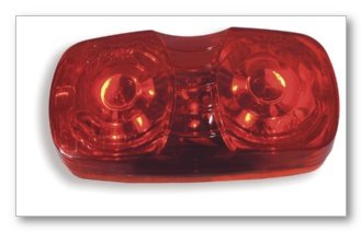 Scallop Corner (Grote CAB MKR LAMP, RED, HI COUNT LED LAMP, SQUARE-CORNER, SCALLOP LENS (G4602))