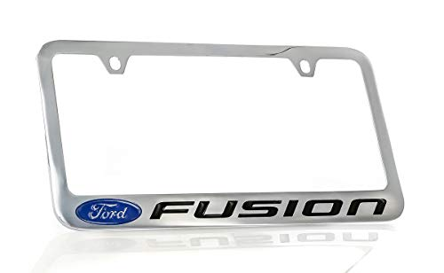 Ford Fusion Chrome Plated Metal License Plate Frame Holder ()