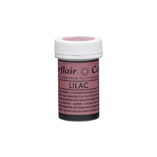 Sugarflair LILAC Paste Gel Edible Food Colouring Colour Icing Quality Sugarcraft