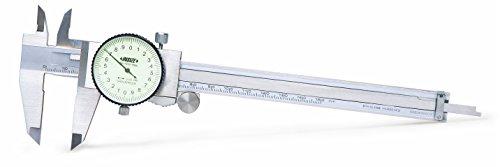 INSIZE 1312-150A Dial Caliper, 0-150 mm, Graduation 0.02 mm
