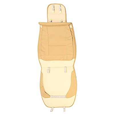 NeDonald PU Leather 5 Seats Car Seat Cover Cushion Front Rear with Lumbar Pillow Head Rest