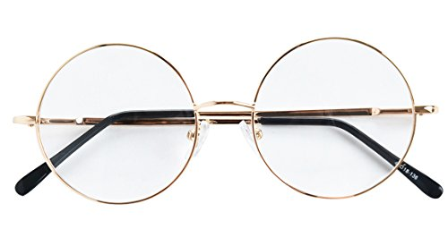 4276481136 Agstum Round Retro Metal Prescription Ready Glasses Frame Clear Lens - Buy  Online in Oman.