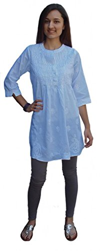 Ayurvastram-Pure-Cotton-Hand-Embroidered-Boho-Peasant-Blouse-Top-Tunic