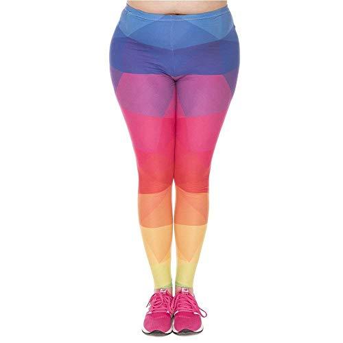Lgd45763 Stretch Di Festa Pantaloni Yoga Alta Triangoli A Leggins Stampato Arcobaleno Leggings Vita Style Plus Moda Plump Pants Women Uxx6dwg1q