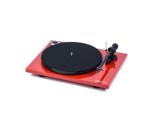 (Pro-Ject Essential III Belt-Drive Turntable with Ortofon OM10 Cartridge (Gloss Red))