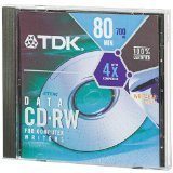 TDK CDRW80 Recordable and ReWriteable CD