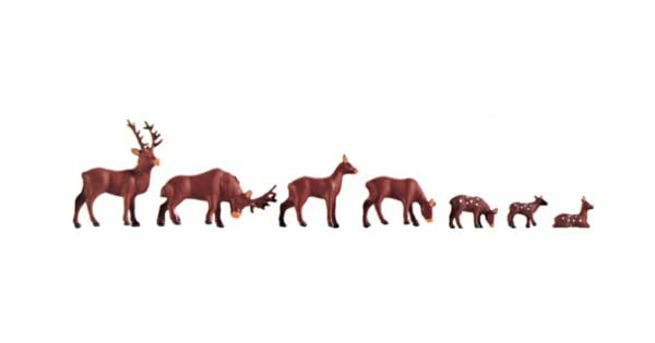 Faller H0 154007  Fallow deer red deer 12 pieces amazing detail