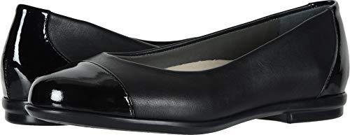 SAS Women's Scenic Cap Toe Black/Black Patent 7 W - Wide (C) US
