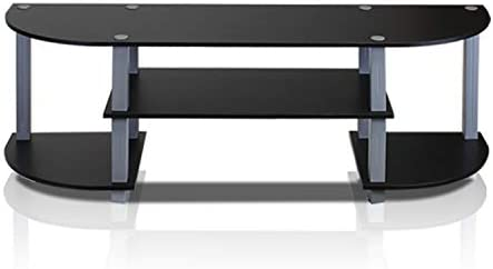 picture of Furinno Turn-S-Tube Wide TV Entertainment Center, Black/Grey