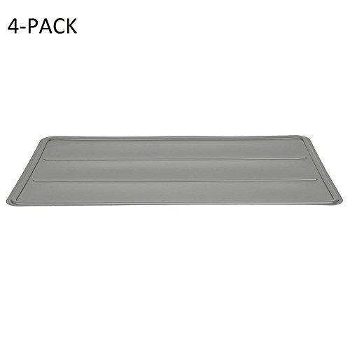 SimplyNeu 14'' D x 24'' W Shelf Raised Edge Liner Storage Basket in Silver by SimplyNeu