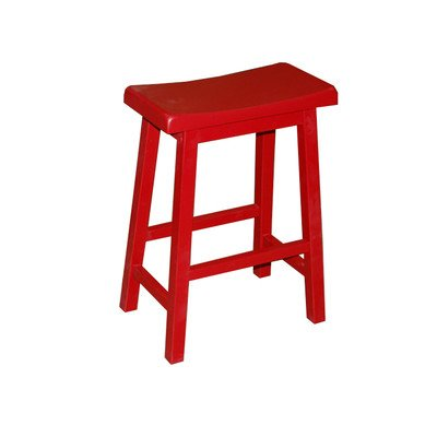 Target Marketing Systems 24-Inch Arizona Wooden Saddle Stool, Red Review