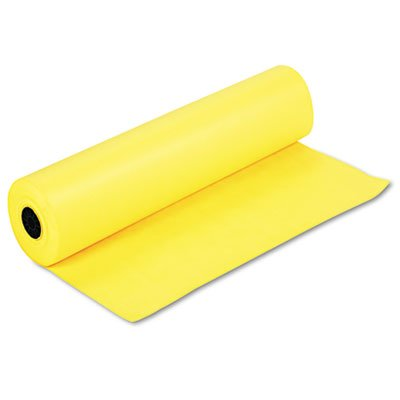 Spectra ArtKraft Duo-Finish Paper, 48 lbs., 36'''' x 1000 ft, Canary Yellow, Sold as 1 Roll by Pacon