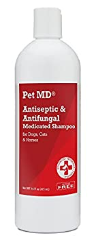 Pet MD Medicated Shampoo is a pleasantly scented shampoo with antiseptic activity (antibacterial and antifungal) designed for dogs, cats and horses with dermatological conditions responsive to chlorhexidine and ketoconazole.
