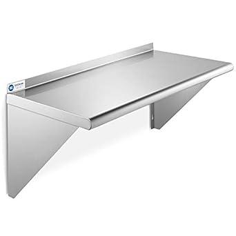 Amazon.com: GRIDMANN NSF - Estante de pared de acero ...