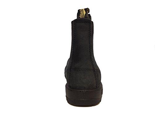 BLUNDSTONE 587 RUSTIC BLACK STIVALETTO NABUK ELASTICI NERI (7 UK)