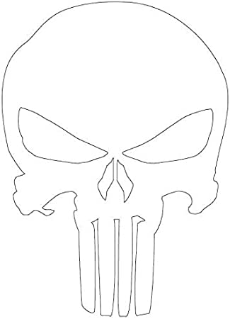 Classic Skull Vinyl Decal Sticker