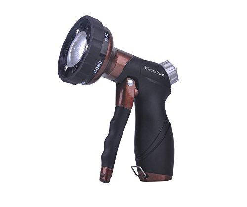 Wasser Vela Garden Heavy Duty Bronze-color Metal 6-pattern Front Trigger Soft Grip Water Spray Pistol Hose Nozzle ()