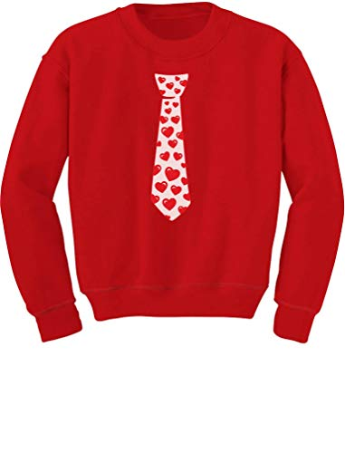Red Hearts Tie Love Cute Toddler/Kids Sweatshirts 3T ()
