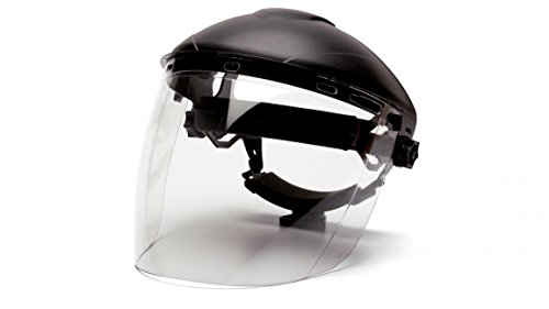 Pyramex S1110 Polycarbonate Tapered Clear Faceshield, Tapered Clear Visor by Pyramex Safety
