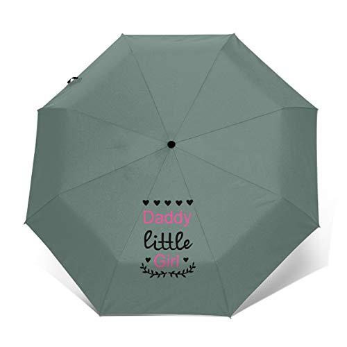 Daddys Little Girl Windproof Automatic Tri-fold Umbrella Sun UV Protection Sun Umbrella